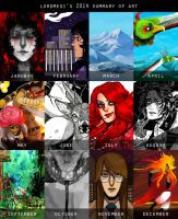 Art Summary 2014 by lordmegi
