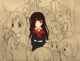 Jigoku Shoujo by colorfullfrootloops