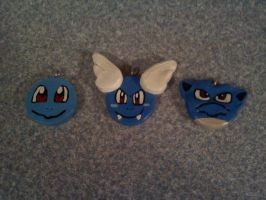 Clay Squirtle Family Pendants by Esca-Lutum