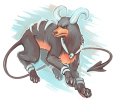 Houndoom by Mootecky