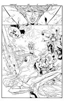 Ultimate X-men pag 4 inks by Lobo-Cuevas