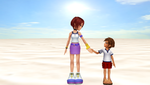 [MMD] 14 old year Kairi and young Sora by MarcosLucky96