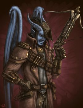 Tiefling (Commissions 2 of 2) by Destinyfall