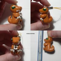 Agumon Charm by ChibiSilverWings