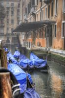 Gondolas at Rest by InspirationRealized
