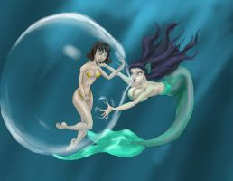 Mermaid for Bubble-fan by Spartly