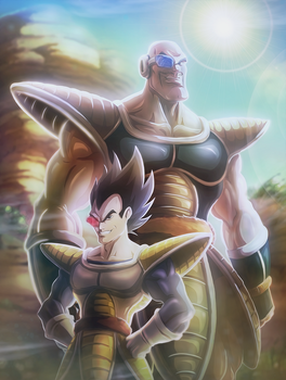 The saiyans arrive by Jonny5Alves
