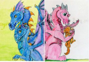 Dragon ACEOs week 10 by The-GoblinQueen
