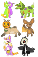 HALLOWEENIES FOR SALE! PAYPAL ONLY! by P00CHYENA
