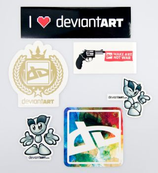 Official dA Sticker Pack II by deviantWEAR
