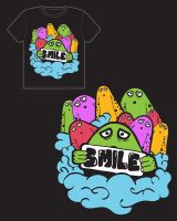 Smile Tshirt by Makavelithedon