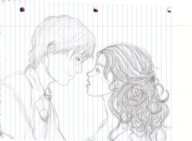 Draco + Hermione: Rough Sketch by honeydukes