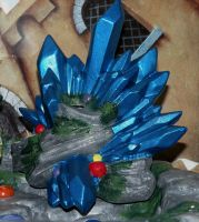 Dragon fountain: crystal by cake-engineering