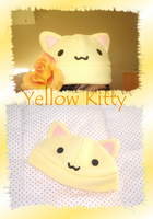 Light Yellow Kitty Hat by Rubybaga