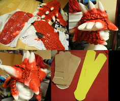 Rathalos armor progress paint 001 by Grethe--B