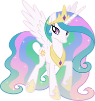 Happy Princess Celestia (3) by 90Sigma