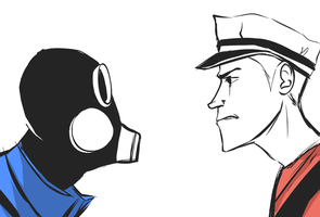 Pyro vs. Scout by Qurugu