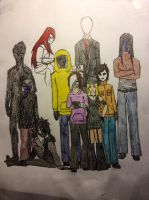 Slenderman and Proxies by SOLDIERNichole
