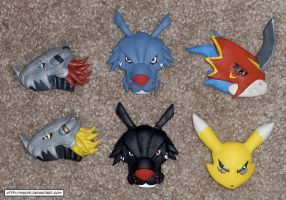 Clay Digimon Magnets by HeyLookASign