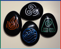 Avatar: The Last Airbender Stones, Black Glass by ChimeraDragonfang