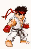 Street Fighter Chibi: Ryu by fastg35