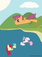 Cutie Mark Crusaders: Fun at the Lake by brony-in-the-shadows