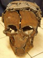 Spot Welded Iron Skull by nomibubs