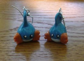 Mudkip Earrings by naga-kkw87
