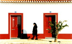 Woman in black by JACAC