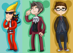 Chibs in suits by skejy