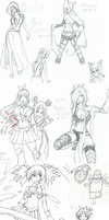 Fairy Tail sketch dump by APH-Koneko
