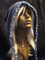 Blue Snood 'Hood-Hat' by Nookawolf