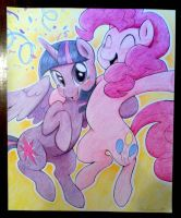 Pinkie Pie//Purple Pony Princess Party Poster by MMMenagerie