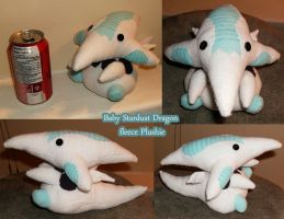 Baby Stardust Dragon Fleece Plushie by roseannepage