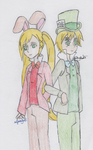 Hetalia - March Hare and Mad Hatter by SwiftNinja91