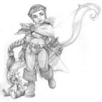 Roheryn - Dwarf Huntress by amypeterson