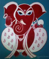 Moods of Ganesha 5 - Happiness by manjulak