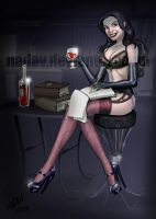 Commission: Writer theme by nadav