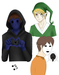 Characters creepypasta by Fox-the-Furious