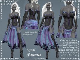 Drow Sorceress by Elvina-Ewing