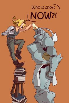 Fullmetal Alchemist: Who is short NOW?! by kaponsh