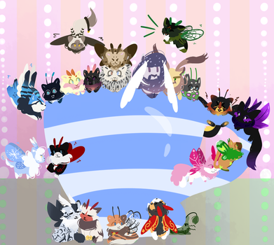 Cup full of Mothcats ych funish by Trainerfairy