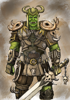 Rare Orc Warrior Card from Tales of Taelora by 4Fumiaki4