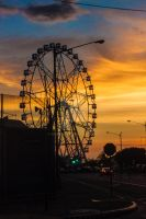Ferris Wheel at sunset by MikuRC