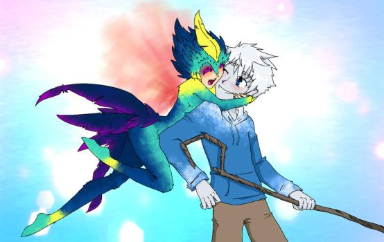 Jack Frost and Toothiana by taihiwatari