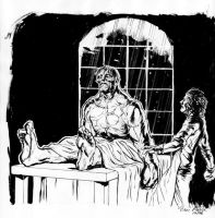 Frankenstein Illustration III by ExecutiveOrder9066