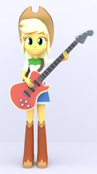 3D Apple Jack with Bass by MKevinAdam