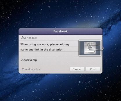 Facebook Integration on Mac PSD by sparkyemp