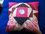 Unicorn Patchwork Handmade Custom Pillow by grandmoonma