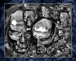 Silver Surfer Tribute Abstract by thebryancrump